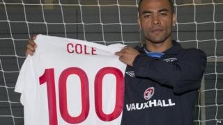 Ashley Cole set to make 100th appearance for England