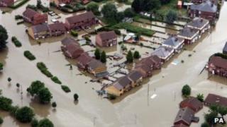 Catcliffe, Sheffield flooded in 2007