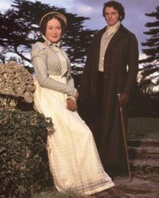 Jennifer Ehle and Colin Firth in the 1995 version of Pride and Prejudice
