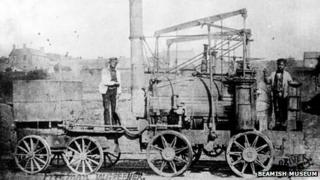 Puffing Billy working at Wylam Colliery c1860