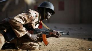 Malian soldier in Gao on 10/2/13