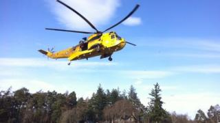 Helicopter involved in incident