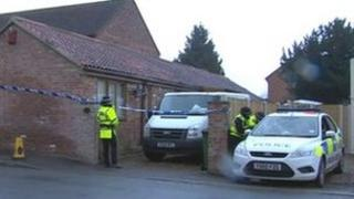 Police at Whisker Cottage, Full Sutton