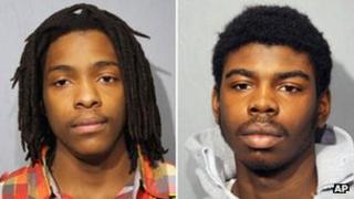 Kenneth Williams (left) and Michael Ward booking photos