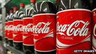 Coca-Cola bottles (Archive shot)