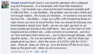 Murph Guest Facebook post