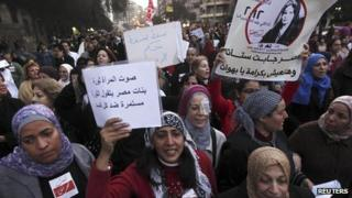 Women in Cairo march against sexual harassment (file photo)