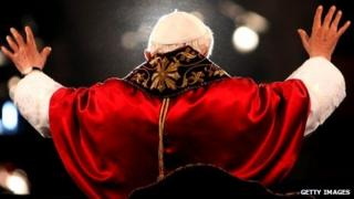 Pope Benedict's back, April 2006