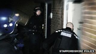Staffordshire Police drug raids