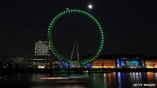 Green London Eye