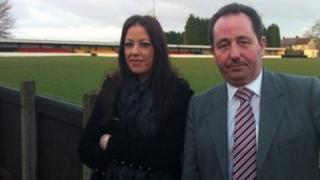 Hucknall Town FC's Liz Morley and Tony Knowles