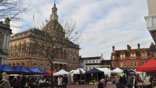 Cornhill market, Ipswich