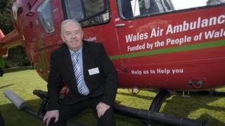 Robert Palmer, chairman of Wales Air Ambulance