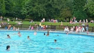 Pontypridd paddling pool