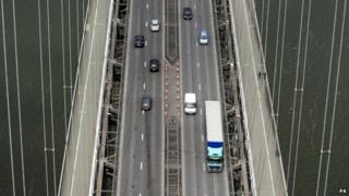 View from top of south tower of Forth Road Bridge