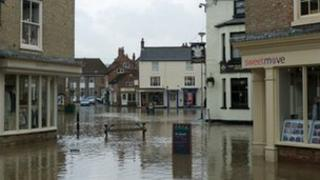 Pocklington flood water