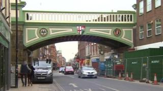 Worcester Foregate Street railway bridge after the makeover