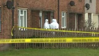 Police in Bryn Hafod, Wrexham
