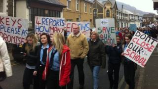 Cwmcarn protest