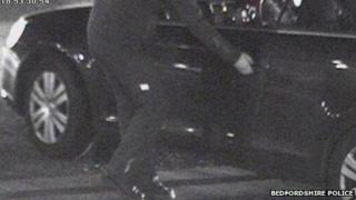CCTV footage of attack at Dunstable garage