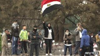 Anti-government protesters in Tahrir Square, Cairo (file photo)