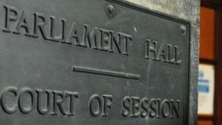 Court of Session sign