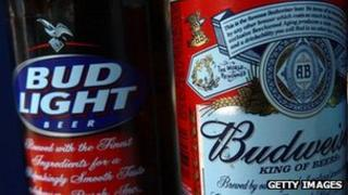 Budweiser and Bud light bottles