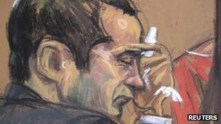 Court sketch of Gilberto Valle in New York, 25 February 2013