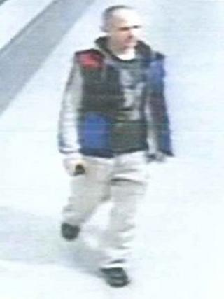 CCTV of a man police wish to speak to about hospital thefts