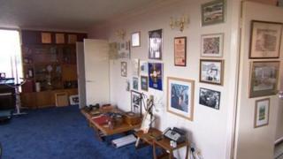 Interior of Jimmy Savile's penthouse