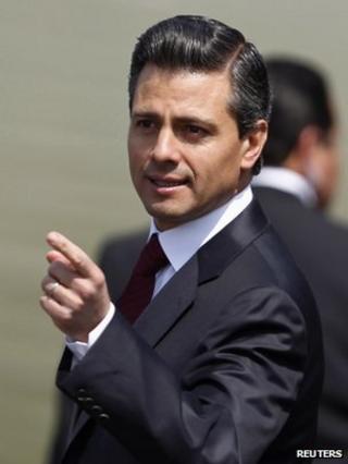 Enrique Pena Nieto in February 2012