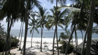 A sandy beach in Mombasa (Archive shot)