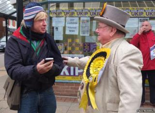 Conservative MP Michael Fabricant and the Monster Raving Loony party's Howling Laud Hope