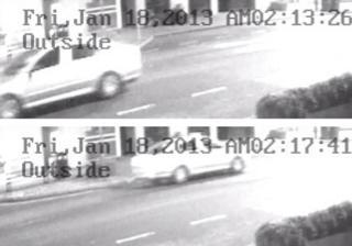 CCTV of Skoda Octavia car