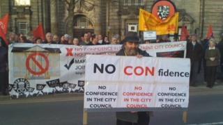 Some of the protesters