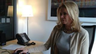 Katty Kay at her desk in Washington DC 28 February 2013