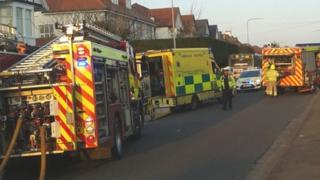 Collision in Llandaff