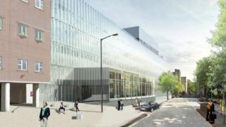 """New York company SO-IL submission for the BRI, Light and Air, centres on creating an airy translucent """"light-filled cocoon"""" for the Queen's Building."""