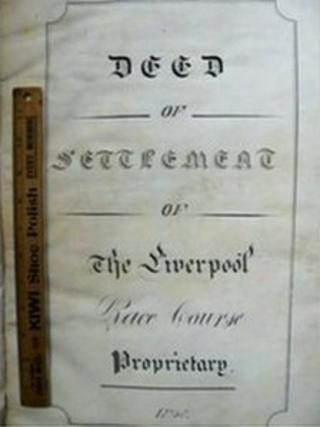 Deeds to Aintree Racecourse