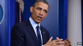 US President Barack Obama at the White House, Washington DC 1 March 2013