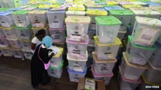 Chandaria tallying centre in Kenya (6 March 2013)