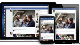 Redesigned Facebook News feed