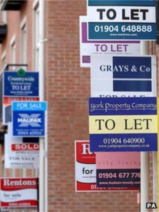 File photo of to let signs