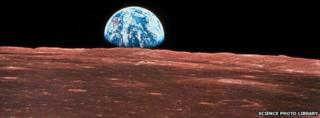 Earth rising from the Moon