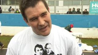 Nigel Clough at the Clough Taylor People's Run
