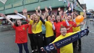Flash mob choir at the Barras market