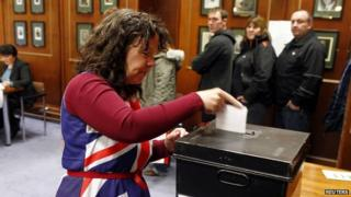 Falkland islander voting