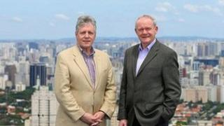 Peter Robinson and Martin McGuinness in Sao Paulo