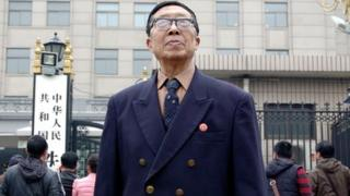 Huang Baojun, 71, worked as a teacher for employees of the Ministry of Railways