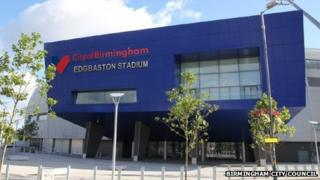 Artists impression of City of Birmingham Edgbaston stadium